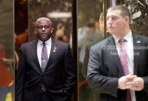 Former United States Representative Allen West (Republican of Florida) stands in an elevator when he arrives at Trump Tower on December 5, 2016 in New York City. U.S. President-elect Donald Trump is still holding meetings upstairs at Trump Tower as he continues to fill in key positions in his new administration.  <br /> Credit:John Angelillo / Pool via CNP