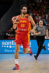 Javier Beiran of Spain during the Friendly match between Spain and Dominican Republic at WiZink Center in Madrid, Spain. August 22, 2019. (ALTERPHOTOS/A. Perez Meca)