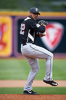 New Britain Rock Cats pitcher Tyler Ybarra (22) delivers a pitch during a game against the Akron RubberDucks on May 21, 2015 at Canal Park in Akron, Ohio.  Akron defeated New Britain 4-2.  (Mike Janes/Four Seam Images)