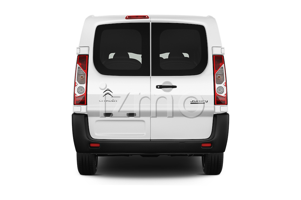 Straight rear view of 2015 Citroen JUMPY-MULTISPACE Attraction-l2h1 5 Door Combi Rear View  stock images
