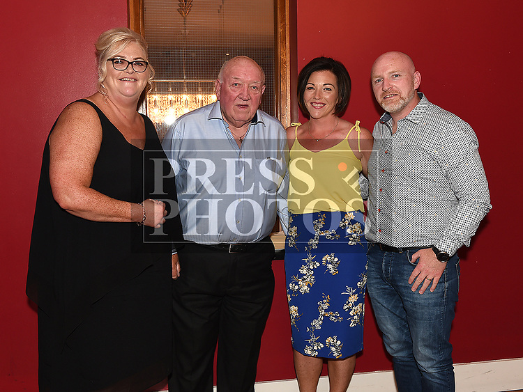 Maria KIng celebrating her 50th birthday in Brú with dad Tom Byrne, Sister Linda Cruise and brother Thos Byrne. Photo:Colin Bell/pressphotos.ie