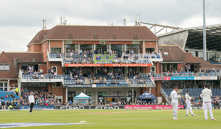 Picture by Allan McKenzie/SWpix.com - 21/05/2016 - Cricket - 2nd Investec Test - England v Sri Lanka - Headingley Cricket Ground, Leeds, England -  The brief, Headingley Pavillion.