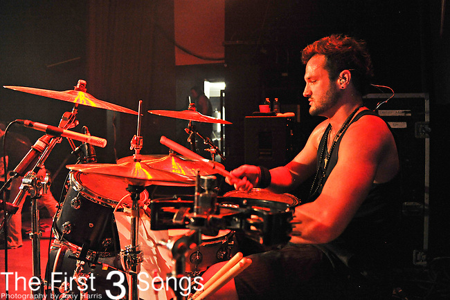 Mike McManus of Saving Abel performs at the Madison Theater in Covington, Kentucky.