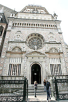 L'esterno della Cappella Colleoni a Bergamo.<br /> Exterior view of the Cappella Colleoni (Colleoni Chapel) in Bergamo.<br /> UPDATE IMAGES PRESS/Riccardo De Luca