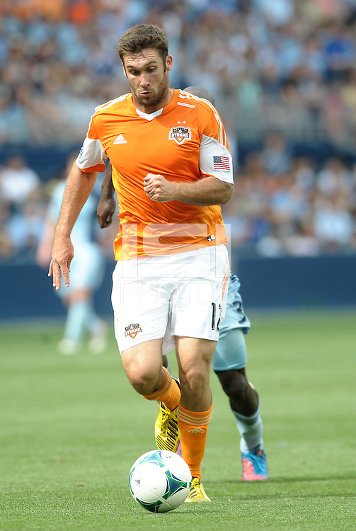 Will Bruin (12) forward Houston Dynamo in action..Sporting Kansas City and Houston Dynamo played to a 1-1 tie at Sporting Park, Kansas City, Kansas.