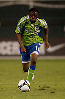 Steve Zakuani. The Seattle Sounders defeated DC United, 2-1, to win the 2009 Lamr Hunt U.S. Open Cup at RFK Stadium in Washington, DC.