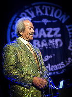 Allen Toussaint performs at the Preservation Hall Jazz Band Ball at the Civic in New Orleans, LA.