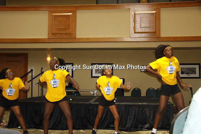 Performers dance at The National Black Theatre Festival with a week of plays, workshops and much more with an opening night gala of dinner, awards presentation followed by Black Stars of the Great White Way followed by a celebrity reception. It is an International Celebration and Reunion of Spirit. (Photo by Sue Coflin/Max Photos)