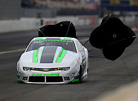 Feb 10, 2018; Pomona, CA, USA; NHRA pro stock driver Kenny Delco during qualifying for the Winternationals at Auto Club Raceway at Pomona. Mandatory Credit: Mark J. Rebilas-USA TODAY Sports