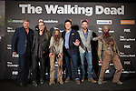 Actors Michael Cudlitz, Josh McDermitt and Ross Marquand attend The Walking Dead: 6th Season presentation in Madrid, Spain. February 23, 2016. (ALTERPHOTOS/Victor Blanco)