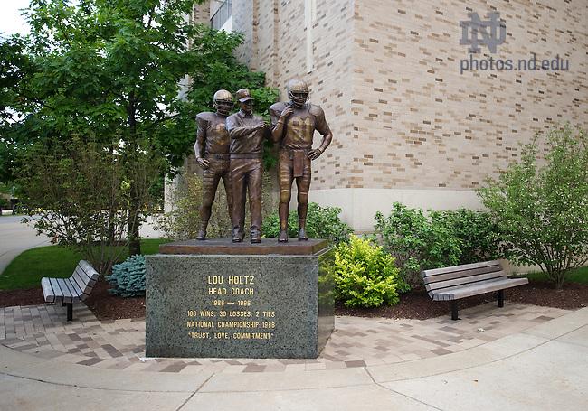 Jun. 13, 2011; Lou Holtz statue outside Notre Dame Stadium..Photo by Matt Cashore/University of Notre Dame