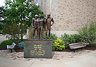 Jun. 13, 2011; Lou Holtz statue outside Notre Dame Stadium..Photo by Matt Cashore/University of Notre Dame