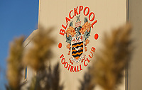 A general view of Bloomfield Road, home of Blackpool FC<br /> <br /> Photographer Alex Dodd/CameraSport<br /> <br /> The EFL Checkatrade Trophy Northern Group C - Blackpool v West Bromwich Albion U21 - Tuesday 9th October 2018 - Bloomfield Road - Blackpool<br />  <br /> World Copyright &copy; 2018 CameraSport. All rights reserved. 43 Linden Ave. Countesthorpe. Leicester. England. LE8 5PG - Tel: +44 (0) 116 277 4147 - admin@camerasport.com - www.camerasport.com
