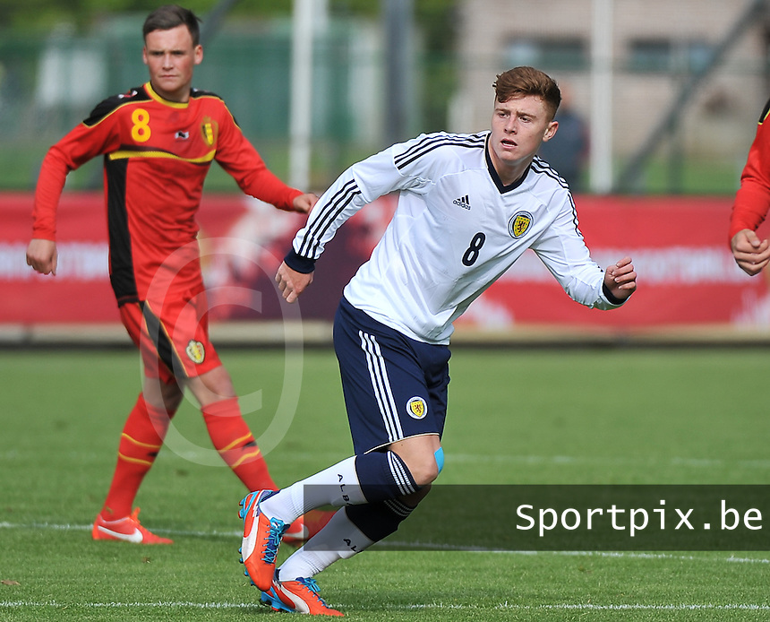 Scotland U19 - Belgium U19 : Lewis Macleod.foto DAVID CATRY / Nikonpro.be