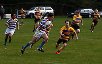 Photo: Richard Lane/Richard Lane Photography. Rosslyn Park HSBC National School Sevens. 28/03/2011. Rugby action.