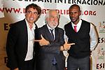XIV Sopar Solidari de Nadal.<br /> Esport Solidari Internacional-ESI.<br /> Santi Ezquerro, Josep Maldonado &amp; Eric Abidal.