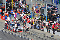 19-20 February, 2016, Daytona Beach, Florida USA<br /> Joey Logano makes a pit stop.<br /> ©2016, F. Peirce Williams