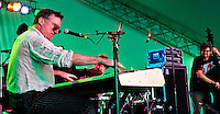 Jon Cleary: Piano, Bass, and Drums w/ James Singleton playing on Day 1 of Voodoo Festival 2010 in New Orleans.