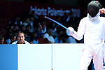 Gorbachuk Oleksandr (JPN), <br /> AUGUST 19, 2018 - Fencing : <br /> Men's Individual Epee Round of 16 <br /> at Jakarta Convention Center Cendrawasih <br /> during the 2018 Jakarta Palembang Asian Games <br /> in Jakarta, Indonesia. <br /> (Photo by Naoki Nishimura/AFLO SPORT)