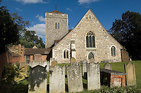 The church and churchyard of St. Giles, Stoke Poges, the site of Thomas Gray's Elegy Written in a Country Churchyard.