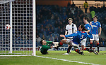 Bilel Mohsni scores his second goal of the night past Ayr Utd keeper David Hutton