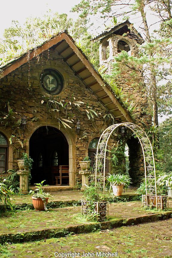 Chapel building at Finca Selva Negra coffee plantation near Matagalpa, Nicaragua