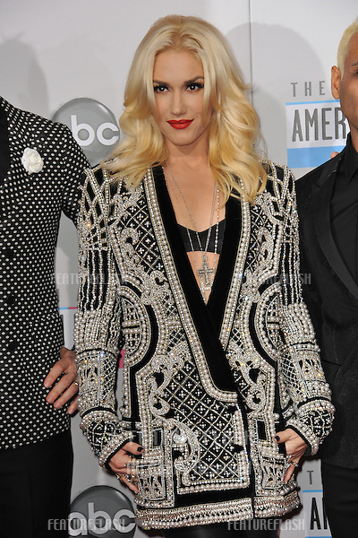 Gwen Stefani of No Doubt at the 40th Anniversary American Music Awards at the Nokia Theatre LA Live..November 18, 2012  Los Angeles, CA.Picture: Paul Smith / Featureflash