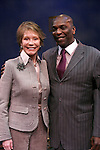 """***EXCLUSIVE COVERAGE*** Mary Tyler Moore visits the cast of """"Enter Laughing"""" at the York Theatre Company in New York City.<br />February 26, 2009<br />pictured: Mary Tyler Moore & Gerry McIntyre"""