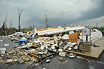 WEATHER - Storms move across North Alabama Wednesday April 27, 2011.  Damage to a Jet-Pep gas station approximately 3 miles north of Arab, AL.  (The Huntsville TImes/Bob Gathany)