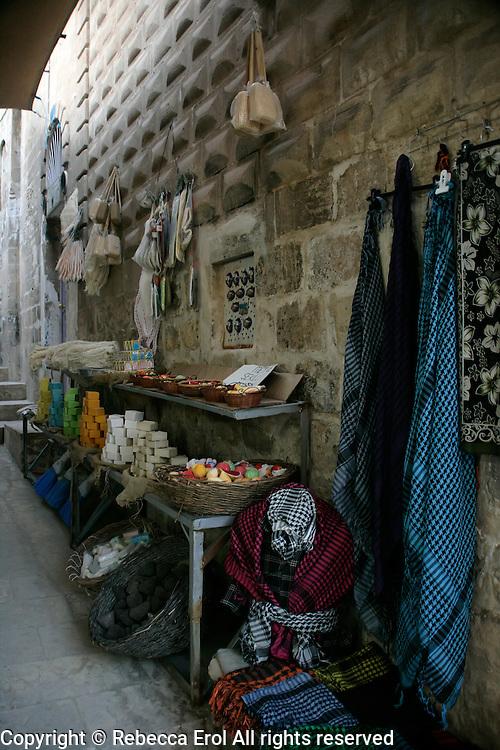 Soaps and scarves in a Mardin backstreet, southeastern Turkey