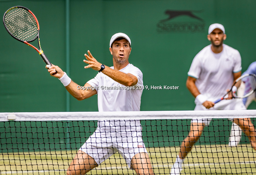 London, England, 5 July, 2019, Tennis,  Wimbledon, Men's doubles: Jean-Julien Rojer (NED) and Horia Tecau  (ROU) (R)<br /> Photo: Henk Koster/tennisimages.com