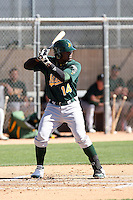 Rashun Dixon, Oakland Athletics 2010 minor league spring training..Photo by:  Bill Mitchell/Four Seam Images.