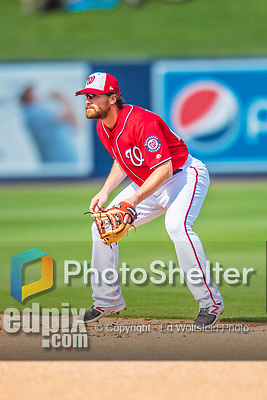 28 February 2017: Washington Nationals infielder Daniel Murphy in Spring Training action during the inaugural game against the Houston Astros at the Ballpark of the Palm Beaches in West Palm Beach, Florida. The Nationals defeated the Astros 4-3 in Grapefruit League play. Mandatory Credit: Ed Wolfstein Photo *** RAW (NEF) Image File Available ***