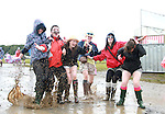 Tara Callaghan, Emer Gallagher, Ronan McDevill, Niamh Callaghan, Maria Doherty and Petra McCafferty on Day 1 of the Oxegen Festival, Punchestown, Co.Kildare....(Photo credit should read Jenny Matthews www.newsfile.ie)....This Picture has been sent you under the conditions enclosed by:.Newsfile Ltd..The Studio,.Millmount Abbey,.Drogheda,.Co Meath..Ireland..Tel: +353(0)41-9871240.Fax: +353(0)41-9871260.GSM: +353(0)86-2500958.email: pictures@newsfile.ie.www.newsfile.ie.