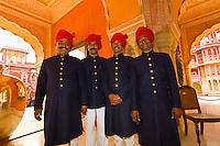 Palace Guards at the City Palace, Jaipur, Rajasthan, India