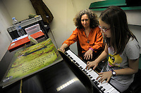 Lezione di musica.Music lesson.<br /> Scuola Popolare di Musica Donna Olimpia. The Popular School of Music Donna Olimpia.