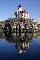 Pomham Rocks Lighthouse in winter