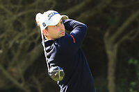 Nicolai Von Dellingshausen (GER) on the 8th tee during Round 2 of the Challenge Tour Grand Final 2019 at Club de Golf Alcanada, Port d'Alcúdia, Mallorca, Spain on Friday 8th November 2019.<br /> Picture:  Thos Caffrey / Golffile<br /> <br /> All photo usage must carry mandatory copyright credit (© Golffile | Thos Caffrey)