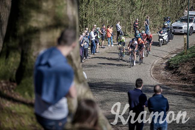 early breakaway group up the Kemmelberg<br /> <br /> Bredene Koksijde Classic (2019) ( former Handzame Classic )<br /> Bredene > Koksijde 199km (BEL)<br /> <br /> ©kramon