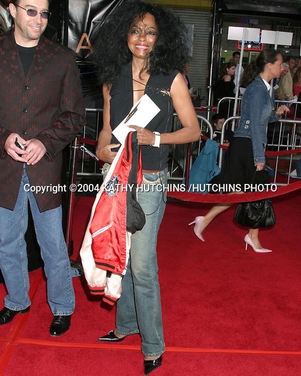 "©2004 KATHY HUTCHINS /HUTCHINS PHOTO.PREMIERE OF ""COLLATERAL"".ORPHEUM THEATER, DOWNTOWN LA.LOS ANGELES, CA.AUG 2, 2004..DIANA ROSS."