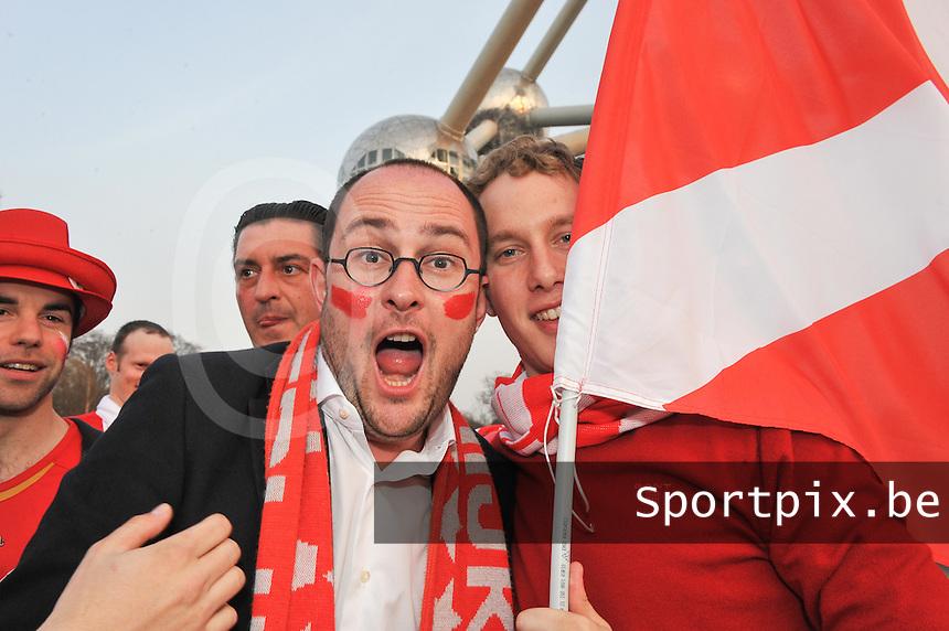 Bekerfinale KV Kortrijk - Sporting Lokeren : Vincent Van Quickenborne voor de finale in het KVK - Dorp aan de Heyzel .foto DAVID CATRY