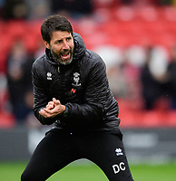 Lincoln City manager Danny Cowley during the pre-match warm-up<br /> <br /> Photographer Chris Vaughan/CameraSport<br /> <br /> The EFL Sky Bet League Two - Lincoln City v Crewe Alexandra - Saturday 6th October 2018 - Sincil Bank - Lincoln<br /> <br /> World Copyright &copy; 2018 CameraSport. All rights reserved. 43 Linden Ave. Countesthorpe. Leicester. England. LE8 5PG - Tel: +44 (0) 116 277 4147 - admin@camerasport.com - www.camerasport.com