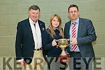 Megan Lynch was awarded the Causeway Comprehensive School Principal Award Senior by   Tim Leahy, Teacher, and Cathal Fitzgerald, Principal at the CAUSEWAY Comprehensive  Annual Awards Night on Thursday