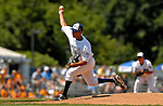 31 July 2007:  Vermont Lake Monsters pitcher Adrian Alaniz in action against the Hudson Valley Renegades at Historic Centennial Field in Burlington, Vermont. The Lake Monsters defeated the Renegades 4-3 to sweep the 3-game series...Mandatory Photo Credit: Ed Wolfstein Photo