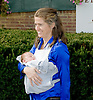 Leigh Delacour and baby Luca at Delaware Park on 9/20/12