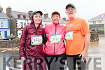 Deirdre, Marie and Tomas O'Keeffe at the Dingle marathon on Saturday morning.