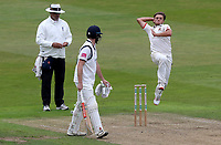 Aaron Beard of Essex in bowling action during Warwickshire CCC vs Essex CCC, Specsavers County Championship Division 1 Cricket at Edgbaston Stadium on 10th September 2019
