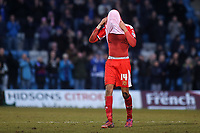 Dele Alli of MK Dons walks towards the dressing room at the end of the match during Gillingham vs MK Dons, Sky Bet League One Football at the MEMS Priestfield Stadium on 14th February 2015