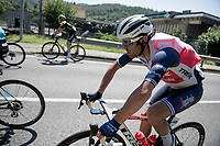 Jacopo Mosca (ITA/Trek-Segafredo) imlpersonating a 'water-turtle'... <br /> <br /> 114th Il Lombardia 2020 (1.UWT)<br /> 1 day race from Bergamo to Como (ITA/231km) <br /> <br /> ©kramon