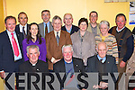 Giving Fr Nicolas Walsh a hugh send off at his farewell party in Beaufort Community Centre on Friday was front row l-r: Michea?l O?'Dochartaigh, Fr Nicolas Walsh, Tony O'Shea. Back row: Neil O'Sullivan, Michael Foley, Lisa O'Sullivan, Liam Twomey, Timmy Moriarty, Colm Kelly, Breda O'Shea, Padraig O'Sullivan, Eleanor Clifford and Michael O'Donoghue   Copyright Kerry's Eye 2008
